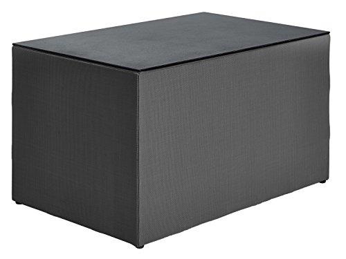 Loungetisch Loggia, 70x40x45cm (BxHxT), anthrazit, rechteckig, Korpus Aluminium, Materialmix 1 Stück