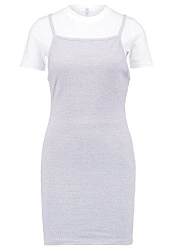 MISSGUIDED 2-IN-1 Jerseykleid, grey Kleid Gr. 36