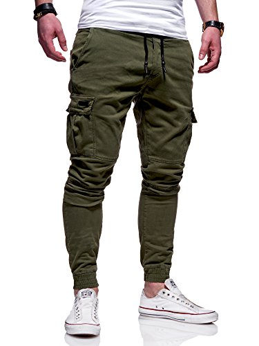 MT Styles Herren Cargo Chinohose Jogger Hose JN-3839