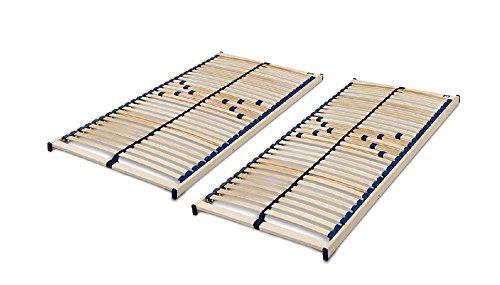 Malie Lattenrost Olymp nicht verstellbar in 140 x 200 cm im Set bestehend aus: 2 x Lattenrost Olymp in 70 x 200 cm – ideal für zwei Personen --- fertig montiert und sofort lieferbar
