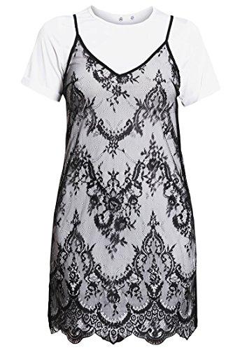 Missguided 2 IN 1 Freizeitkleid, Kleid Damen, Größe: 38 schwarz