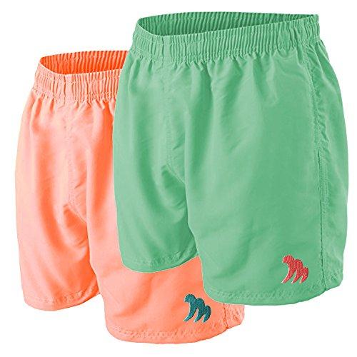 Modische Badeshorts für Herren Marke Martano - Saison 2018 - Mesh - Innenslip - inneliegendem Zugband - verschiedene Farben - Gr. S/5 bis XXL/9 - Bermudashorts Strandshorts Shorts