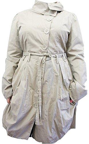 Nächsten beige Button Up Baumwolle Gürtel Mac Coat–Größe UK 12