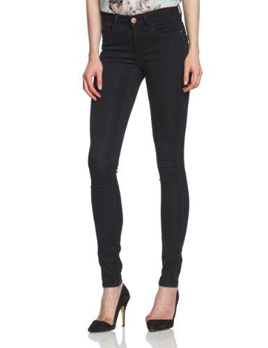 ONLY Damen Jeans 15077793/REG SOFT ULTIMATE BLACK NOOS Skinny Slim Fit (Röhre) Normaler Bund