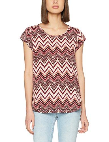 Only Damen Bluse Onlnova Lux S/S AOP Top Wvn