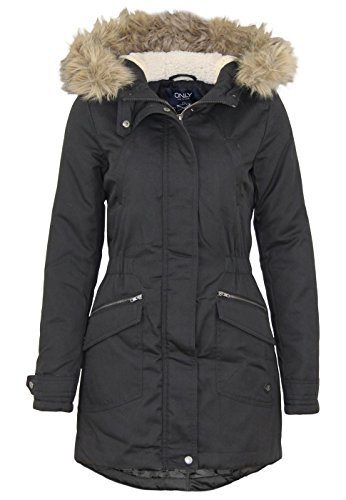Only Damen Parka Winterjacke Kurzmantel Wintermantel