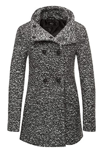 Only Damen Winterjacke Wolljacke Kurzmantel Wollmantel