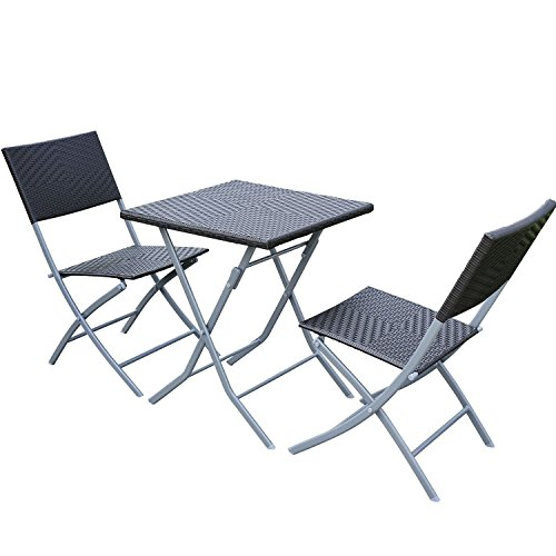 Outsunny® Exklusives 3 tlg./ 7 tlg. Poly Rattan Bistro set Balkonset Balkonmöbel Garnitur