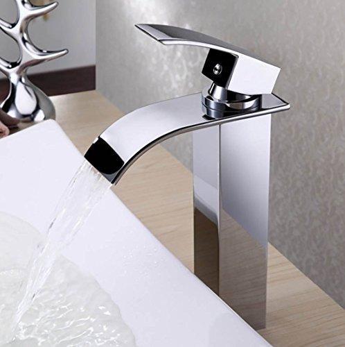 -PIELLO- Wasserhahn Badarmatur Waschbeckenarmatur Küchen Waschbecken Bad Wasserfall PDA-140