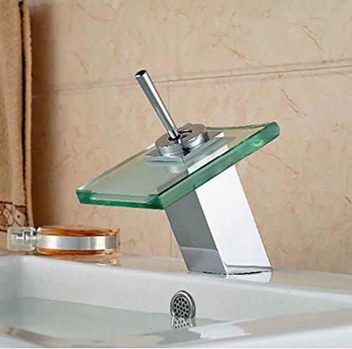 -PIELLO- Wasserhahn Badarmatur Waschbeckenarmatur Küchen Waschbecken Bad Wasserfall PGE-110