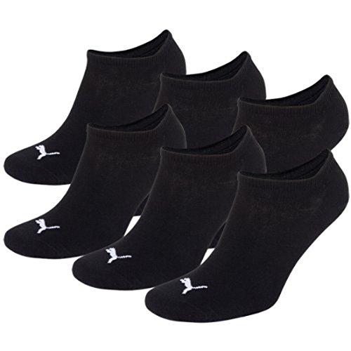 PUMA Unisex Sneaker Sport Socken Sportsocken Füsslinge 251025 im 6er Pack (6Paar = schwarz, 6 Paar - 43/46)