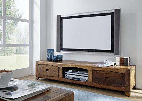 Palisander Massivholz lackiert TV-Board Sheesham Holz Möbel massiv braun Ancona #107