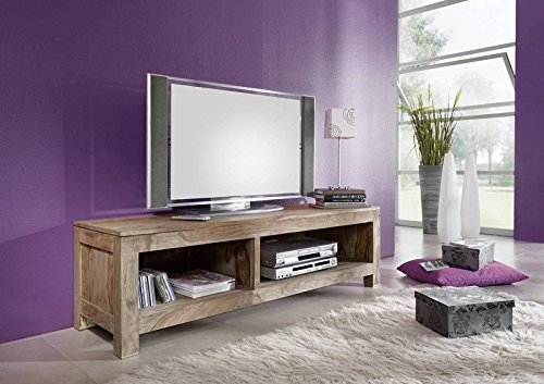 Palisander massiv Holz TV-Board Sheesham Möbel Nature Grey #0123
