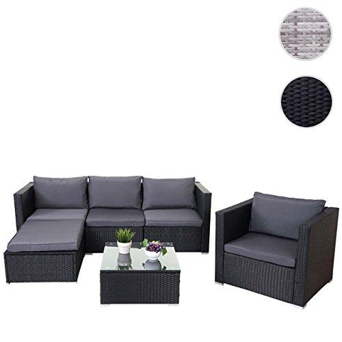 Poly-Rattan-Garnitur Brescia, Gartengarnitur Sitzgruppe Lounge-Set