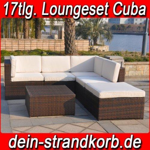 Polyrattan Loungeset Loungemöbelset in mehreren Varianten verfügbar