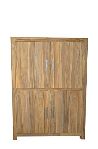 Quadrato Highboard INDO, echtes Sheeshamholz