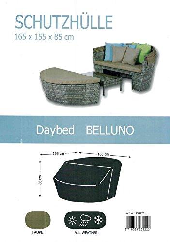 """Reißfeste Schutzhülle für Lounge """"Daybed Belluno"""", in praktischer Tragetasche, 165/155x85/37 cm in taupe"""