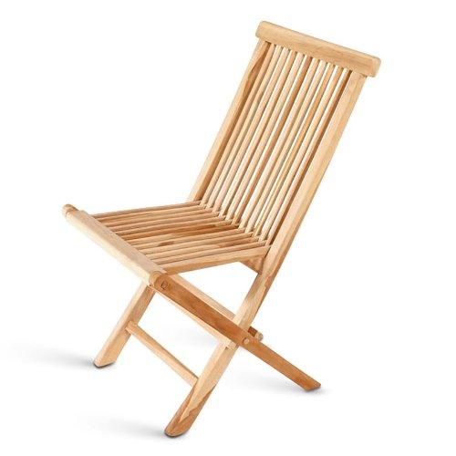 SAM® Teak-Holz Klappstuhl, Gartenstuhl, zusammenklappbarer Hochlehner aus Massivholz, leicht zu verstauen, ideal für Balkon, Terrasse oder Garten [53263248]