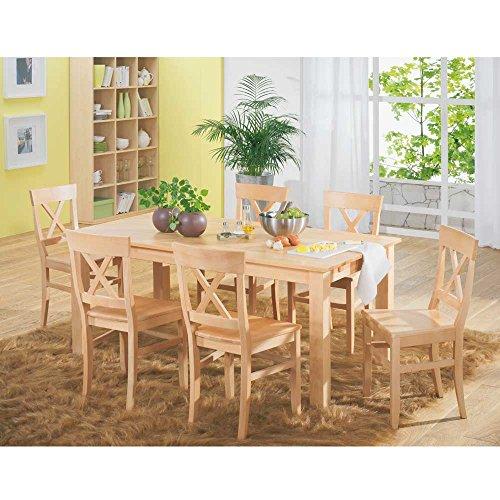 SET Bergheim Buche massiv Tisch Stühle Pharao24