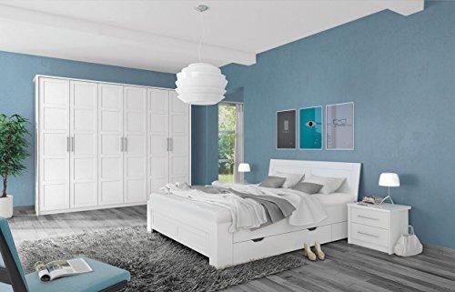 Schlafzimmer Komplett - Set A Malie, 5-teilig, Farbe: Weiß