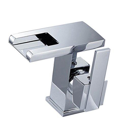 Sharplace 3-Farben LED Wasserhahn | Badarmatur | Wasserfall | Waschtisch Armatur