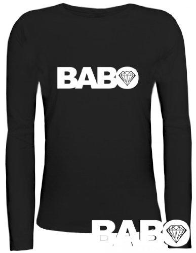 Shirtstreet24, BABO DIAMOND, Boss Anführer Chef Lady/ Damen/Frauen Longsleeve Langarm T-Shirt