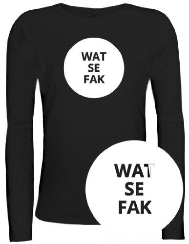 Shirtstreet24, WATSEFAK, Lady/ Damen/Frauen Longsleeve Langarm T-Shirt