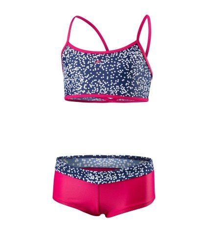 Speedo CROP BKI BLEG JF (NE) NAVY/WHT NAVY/WHITE/ELECTRIC PINK