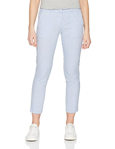 TOM TAILOR Damen Hose Linen Slim Mia Ankle Length