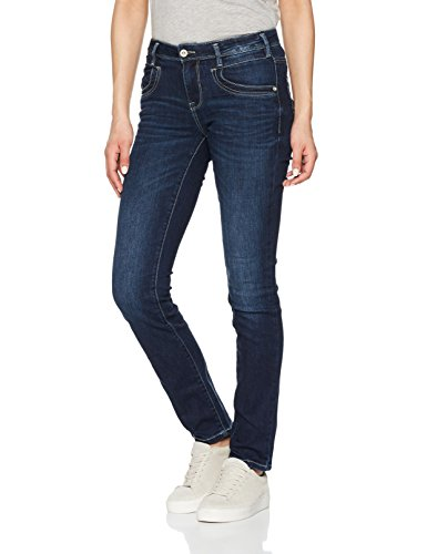 TOM TAILOR Damen Jeans Slim Alexa in A Dark Blue