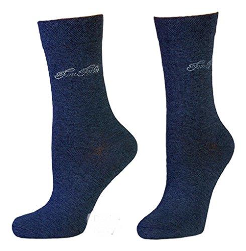 TOM TAILOR Damen Socken 2er-Pack Fine Basic 9701 / Women Socks 2pack (35-38, 545 Dark Navy)