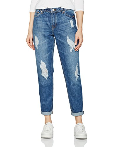 TOM TAILOR Denim Damen Jeanshose Liv Boyfriend Heavy Distressed