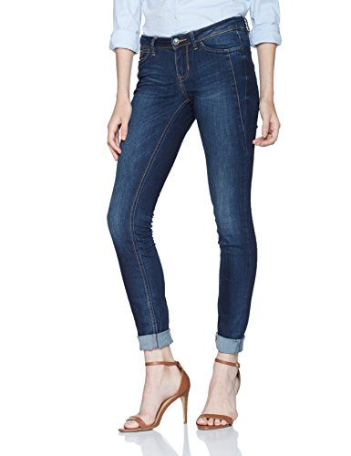 TOM TAILOR Denim Damen Skinny Jeans Jona Ultra Low with Details