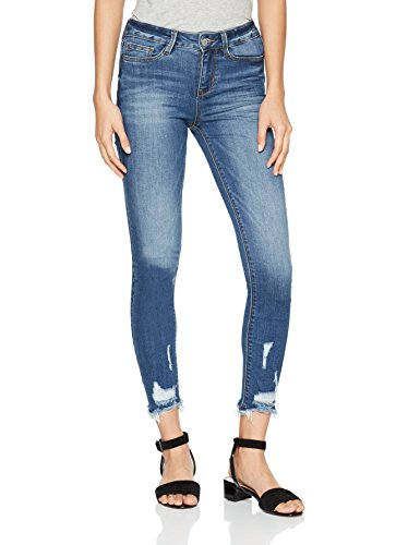 TOM TAILOR Denim Damen Slim Jeans Nela Destroyed Hem