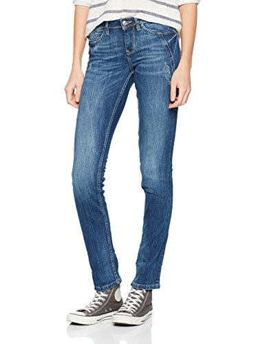 TOM TAILOR Denim Damen Straight Jeans Stella Mid Blue Sw