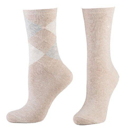 Tom Tailor 2er Pack Argyle Women Socks Frauen 9879 in verschiedenen Farben - Doppelpack Strümpfe Socken Damen Rauten Design uni farben - Versch. Größen