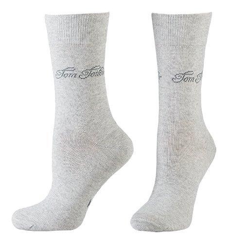 Tom Tailor 2er Pack Basic Women Socks 9702 285 light grey melange Doppelpack Strümpfe Socken