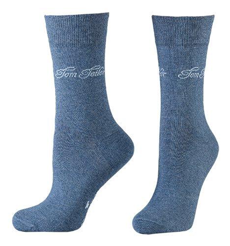 Tom Tailor 2er Pack Basic Women Socks 9702 434 light denim melange Doppelpack Strümpfe Socken