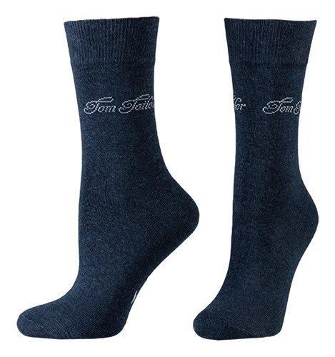 Tom Tailor 2er Pack Basic Women Socks 9702 546 indigo melange Doppelpack Strümpfe Socken