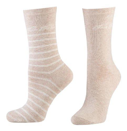 Tom Tailor 2er Pack Stripe Damen Socken Frauen in verschiedenen Farben - Doppelpack Strümpfe Socks Women Streifen-design und uni - Versch. Größen 35-42