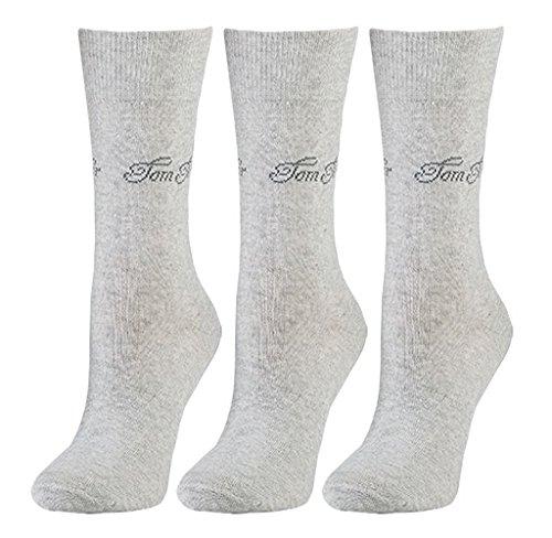Tom Tailor 3er Pack Basic Women Socks 9703 285 light grey melange Doppelpack Strümpfe Socken