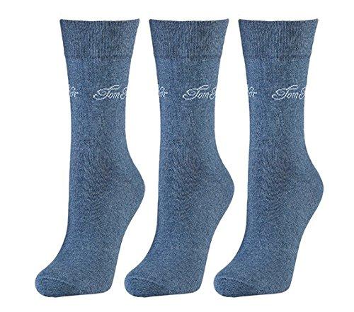 Tom Tailor 3er Pack Basic Women Socks 9703 434 light denim melange Mehrpack Strümpfe Socken