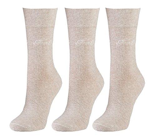 Tom Tailor 3er Pack Basic Women Socks 9703 792 beige Mehrpack Strümpfe Socken