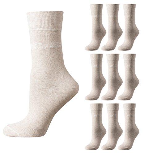 Tom Tailor 9er Pack Basic Women Socks 9703 792 beige Mehrpack Strümpfe Socken