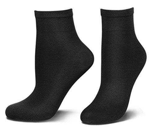 Tom Tailor Damen Socken 60d schwarz 9909 Damen Blickdicht black Feinsöckchen ankle-socks