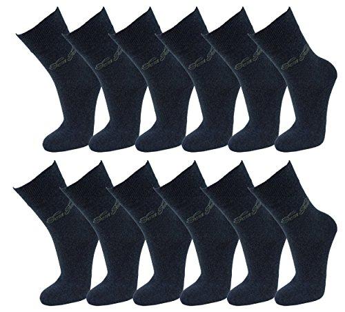Tom Tailor Damen Uni Socks 12 Paar 430 denim melange jeans blau meliert 35-38