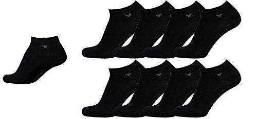 Tom Tailor Sneaker Socken Herren Damen schwarz 8 Paar Mehrpack Kurzstrümpfe Füsslinge Sneakersocken Baumwolle Herren gr. 35-38 39-42 43-46