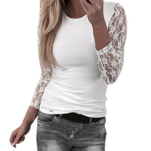 Tops Damen, Sannysis Frauen Langarm T-Shirt mit Rundhalsausschnitt Pullover Tops Bluse Oberteile the Perfect Tee 2018