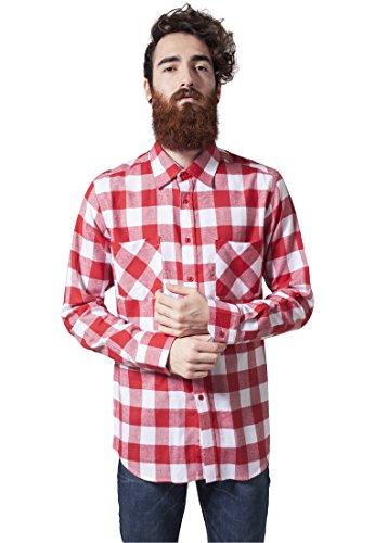 Urban Classics Herren Freizeithemd Checked Flanell Shirt