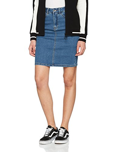 VERO MODA Damen Rock Vmhot Nine Hw Dnm Pencil Skirt Mix Noos